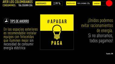 Ahorro de energía el viernes cayó a 2,99%: Santos