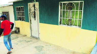 Esta es la vivienda del barrio Santodomingo de Guzmán  donde fue apuñalada la joven de 19 años Mailen Luna.