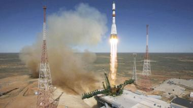 Plataforma de lanzamiento en  Baikonur, Kazajistán.