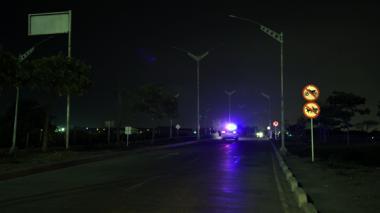 Apagadas 67 lámparas led del Corredor Portuario