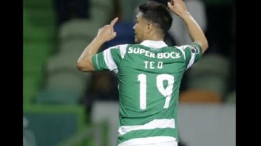 Teófilo Gutiérrez protagonista en la victoria 5-0 del Sporting ante el Vitória de Setúbal