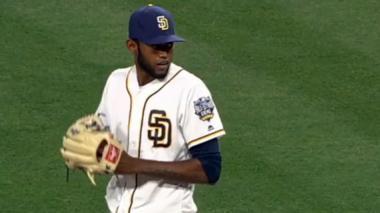 Tayron Guerrero lanzó dos entradas anoche en la derrota de los Padres de San Diego 5 carreras 1 ante los Gigantes de San Francisco.
