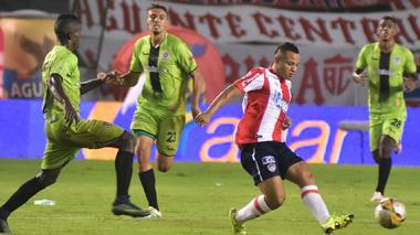 Jesús Rodríguez en una acción del juego ante Cortuluá.