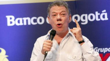 El presidente Santos participó en conversatorio en la clausura de Asobancaria.