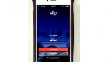 Así se ve la primera apertura de la aplicación Vlip.