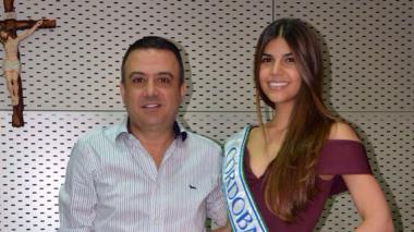 Señorita Córdoba visita a gobernador en su despacho