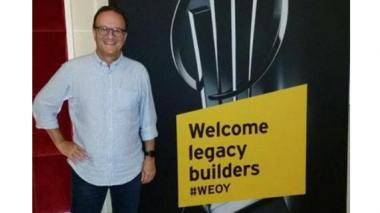 Oswald Loewy, presidente y CEO de Sempertex, ganador del  premio como Emprendedor del Año en Colombia, representando al país en Mónaco.