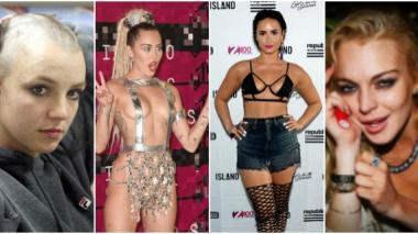 Britney Spears, Miley Cyrus, Demi Lovato y Lindsay Lohan.