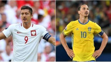 Robert Lewandowski y Zlatan Ibrahimovic.