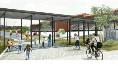 Render del parque que construye el Ministerio de Vivienda en la urbanización Las