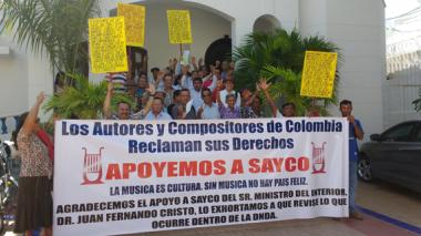 Compositores del Atlántico se unieron a marcha de Sayco