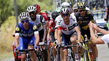 Pelotón en ciclismo de ruta.