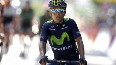 El ciclista colombiano Nairo Quintana durante la etapa 13.