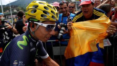 Nairo Quintana en el Tour de Francia 2016.