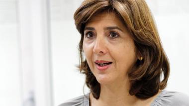 Maria Ángela Holguín, ministra de Relaciones Exteriores.