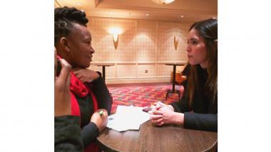 Paulina Vega está de visita en Sudáfrica con la ONG Stop Hunger Now