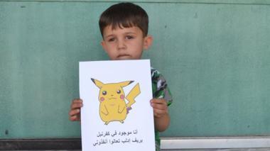 Con imágenes de pokemones, niños sirios piden que los rescaten