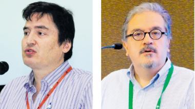 Santiago Castro, presidente Asobancaria  y Gerardo Hernández, superintendente financiero.