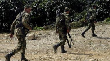 Soldados del Ejército Nacional.