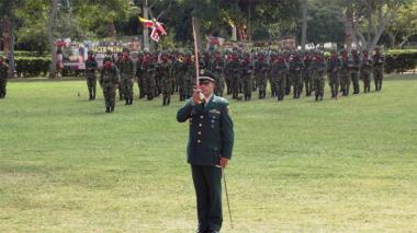 Ceremonia de ascenso en el Ejército.