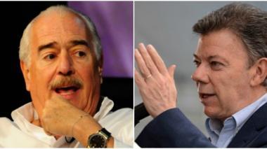 El expresidente Andrés Pastrana y Juan Manuel Santos.