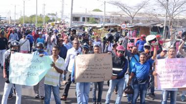 Protesta de mototaxistas.