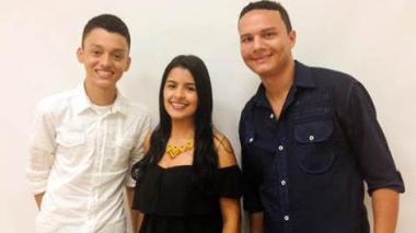 Alba Lucía Cañaveral, Heiner Jiménez Martínez y Luis Uribe Urueta, estudiantes monterianos.