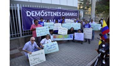 Protestas a esta hora en las afueras del Tribunal Superior de Barranquilla.