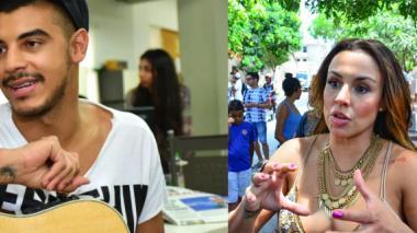 El cantante cartagenero Manuel Medrano y Maía, cantante barranquillera.
