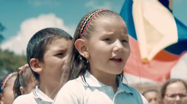 Fotograma del nuevo video del himno, que fue rodado alrededor de todo el territorio nacional.