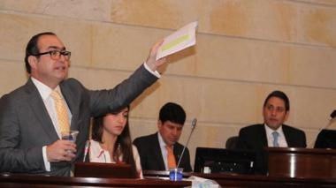 Magistrado Jorge Ignacio Pretelt Chaljub durante su intervención.