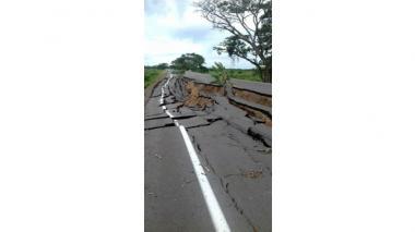 Así se veía el viernes el tramo de la vía que colapsó.