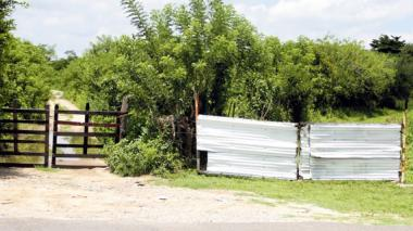 Lugar donde la Policía encontró las cavas con los restos de Jaily Herazo Vásquez.