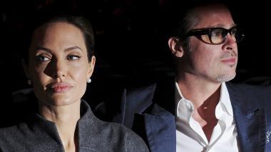 La pareja conformada por Angelina Jolie y Brad Pitt.