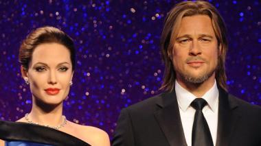 Figuras de Angelina Jolie y Brad Pitt en el museo de cera.