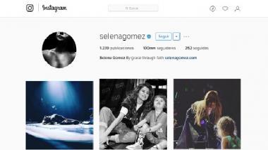Instagram de Selena Gómez.