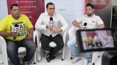 Leonardo Martínez (izq) y Robinsón Pérez (der), entrevistado por Iván Bernal, editor jefe de EL HERALDO.