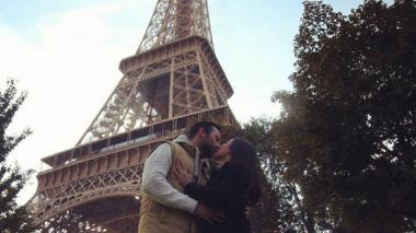 Fotografía con la que Mariana Pajón anunció su compromiso.