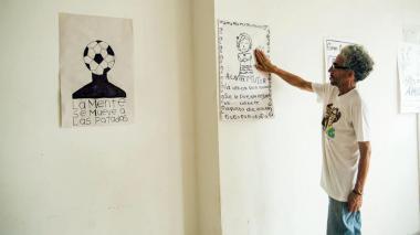 El artista bogotano Antonio Caro, en Barranquilla.