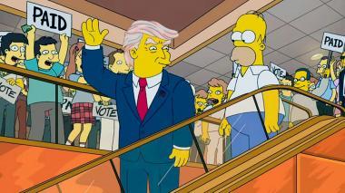 Los Simpsons se arrepienten de la predicción sobre la presidencia de Trump