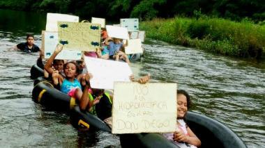 Indígenas y campesinos de la Sierra Nevada protestan por hidroeléctrica