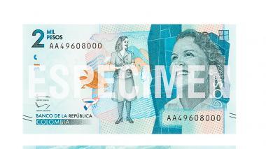 ¿Ya sabe cómo será el nuevo billete de $2.000?