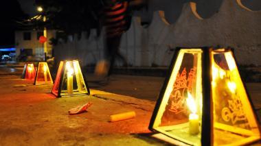 El uso de pólvora suele incrementarse durante la Noche de Velitas, un festejo muy tradicional en la Costa.