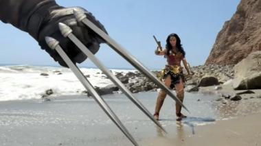 En video: La 'sangrienta' pelea entre Wolverine y Wonder Woman