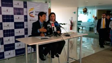 Pedro Arturo Rodríguez Tobo, en rueda de prensa.