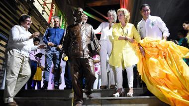 Con escultura y pasarela, Gabo fue recordado en el Parque Cultural