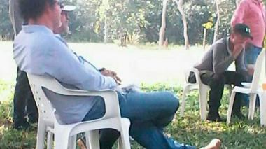 'Pastor Alape' y 'Manteco' verificaron el territorio en Gallo, Tierralta