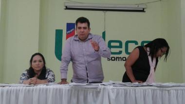 Orlando Jiménez, presidente de Undeco, en su intervención este miércoles.