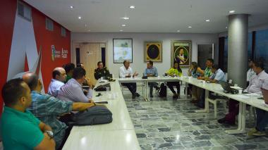 La reunión se realizó en la sede de la Gobernación.