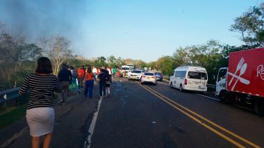 Uno de los accidentes registrados el año pasado en el departamento del Cesar.